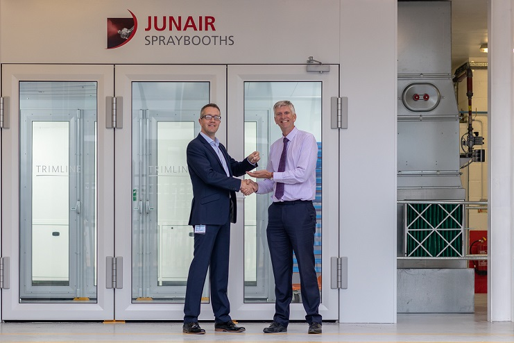Trimline spray booth official handover - Gary Oliver + Steven Wood small