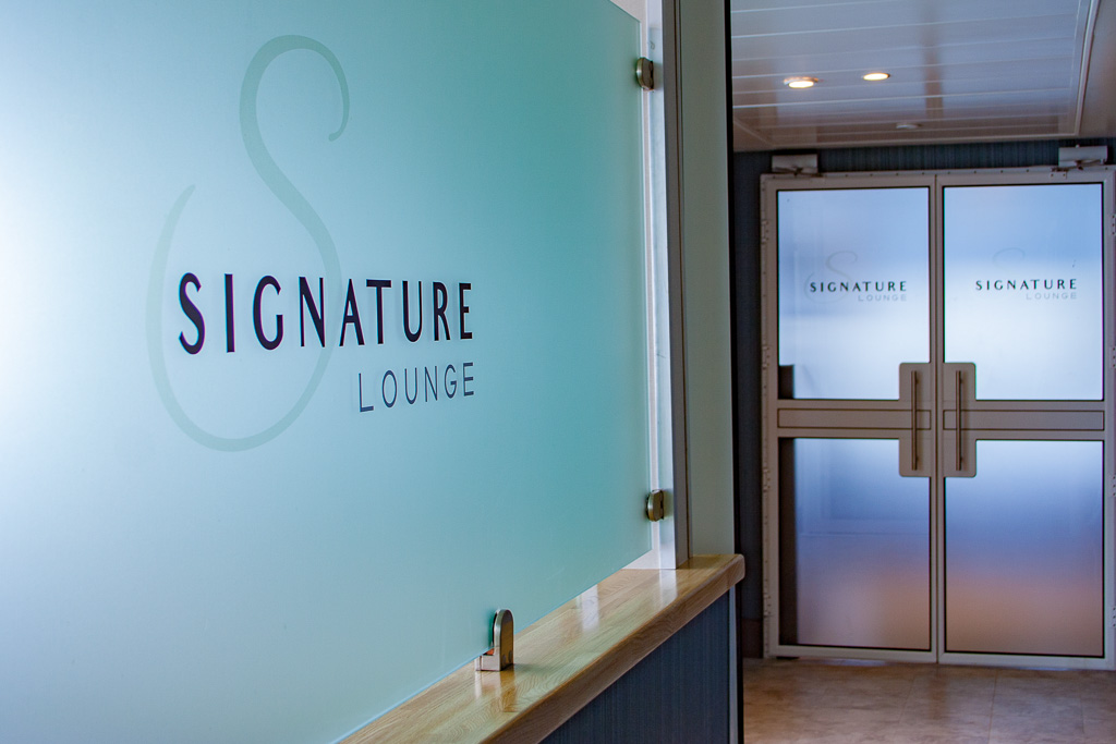 Signature lounge entrance